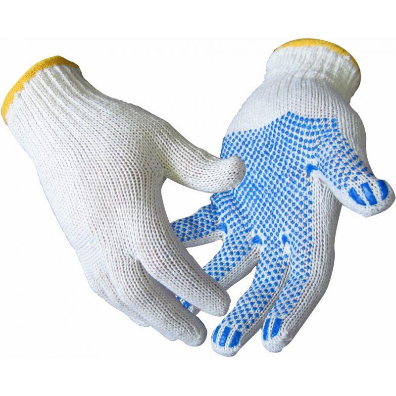 Перчатки хлопчатобумажные с ПВХ точечным покрытием