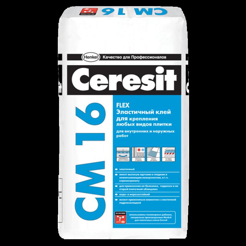 Клей для плитки CM16 Flex Ceresit РБ 25кг