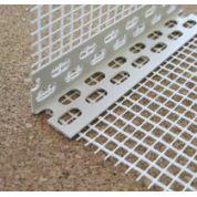Угол фасадный пластиковый с сеткой. 3м
